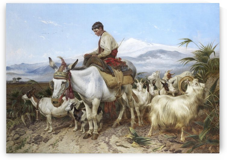 The Vega of Granada returning from pastures by Richard Ansdell