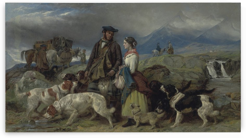 Going to the Shooting Lodge Vivienne by Richard Ansdell
