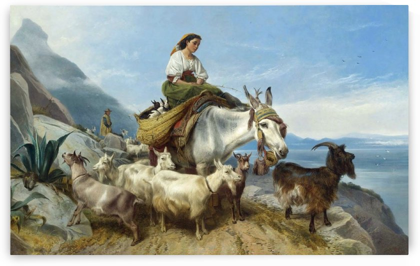 A woman riding a horse by Richard Ansdell