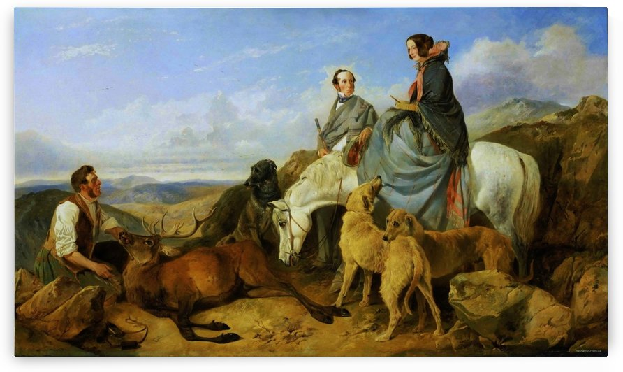 Noble people hunting by Richard Ansdell