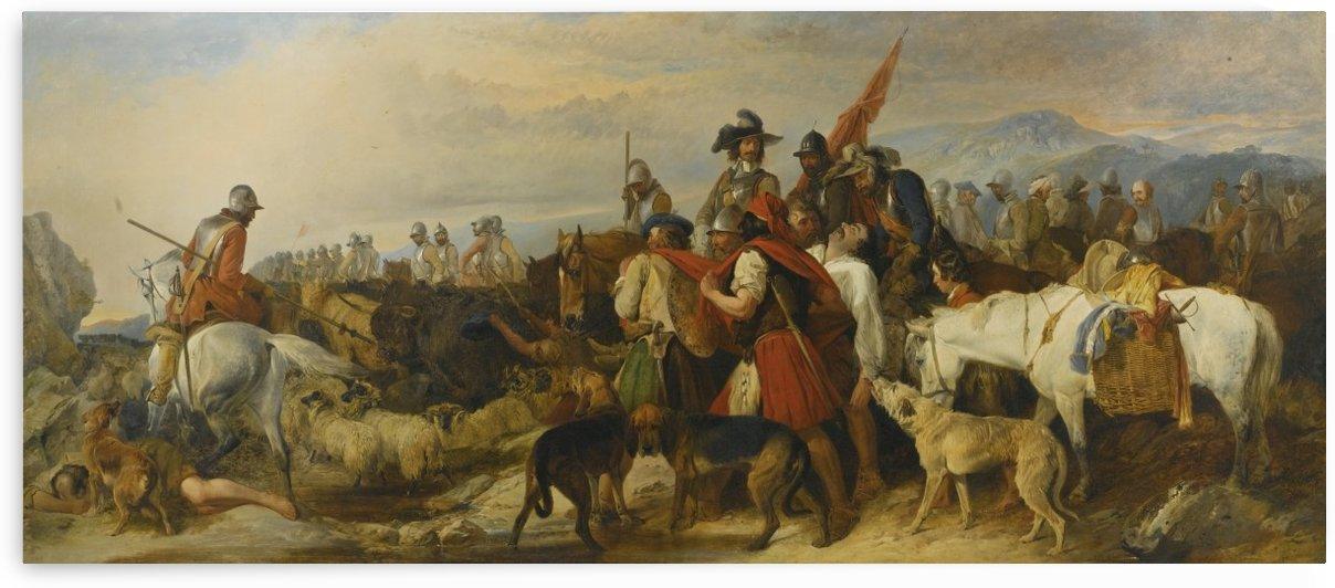A war scene by Richard Ansdell