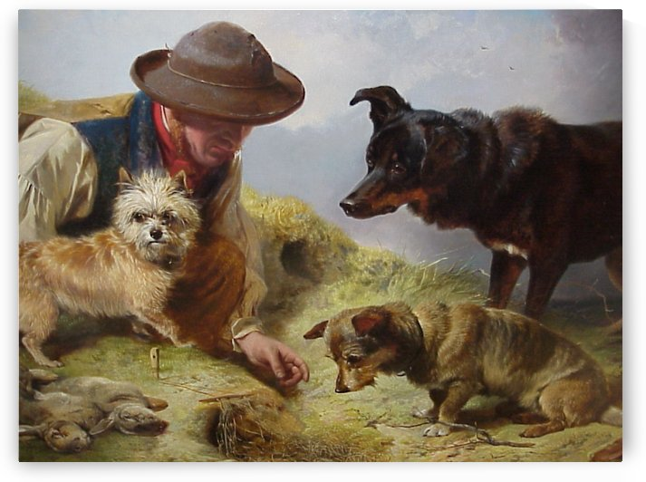 A man with his dogs by Richard Ansdell