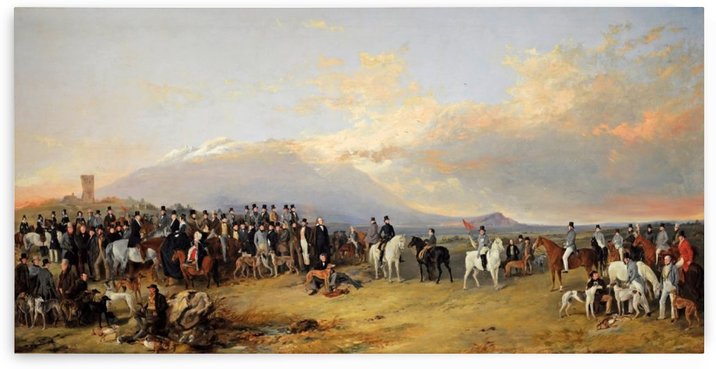 Caledonian Coursing Meeting 1844 by Richard Ansdell
