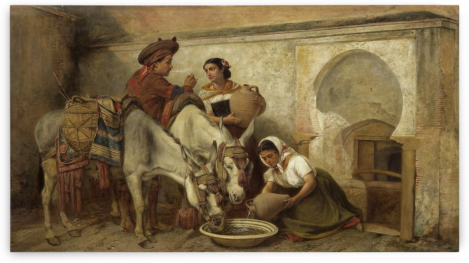 At the well by Richard Ansdell