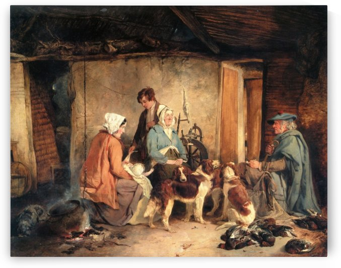 The Crofter's Family by Richard Ansdell