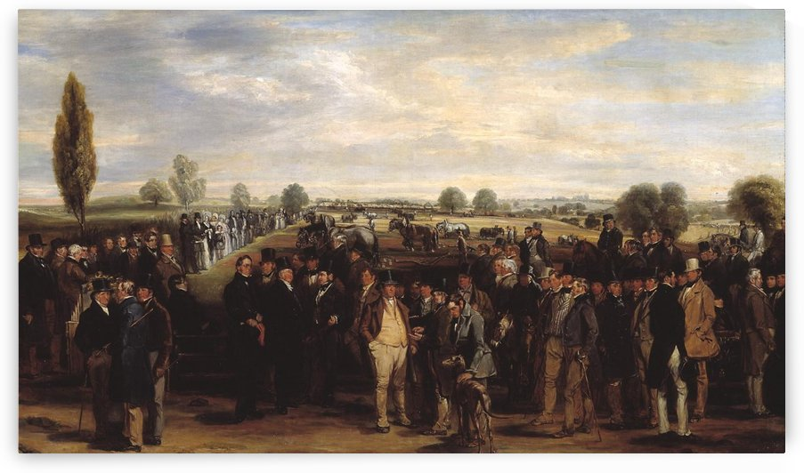 A Ploughing Match by Richard Ansdell