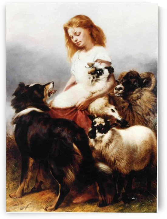 The Herd Lassie by Richard Ansdell