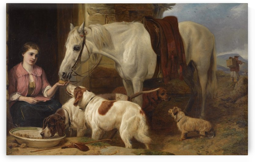 Feeding the animals by Richard Ansdell