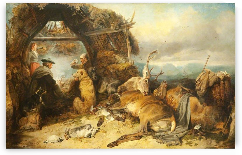 A group of hunters and their hunt by Richard Ansdell