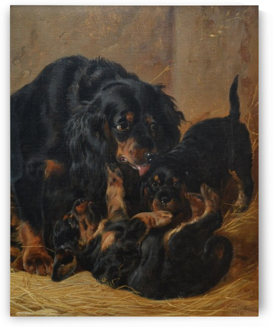 A Family of Gordon Setters by Richard Ansdell