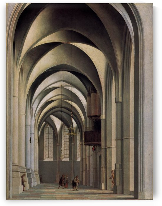 View of the ambulatory of the Grote by Pieter Jansz Saenredam