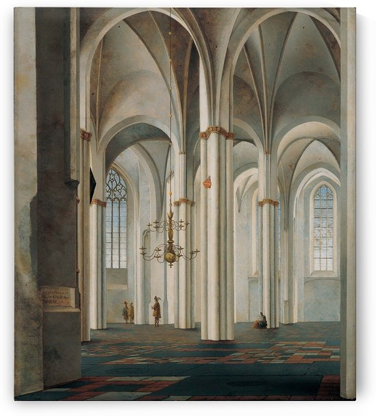 Interior of the Buurkerk at Utrecht by Pieter Jansz Saenredam