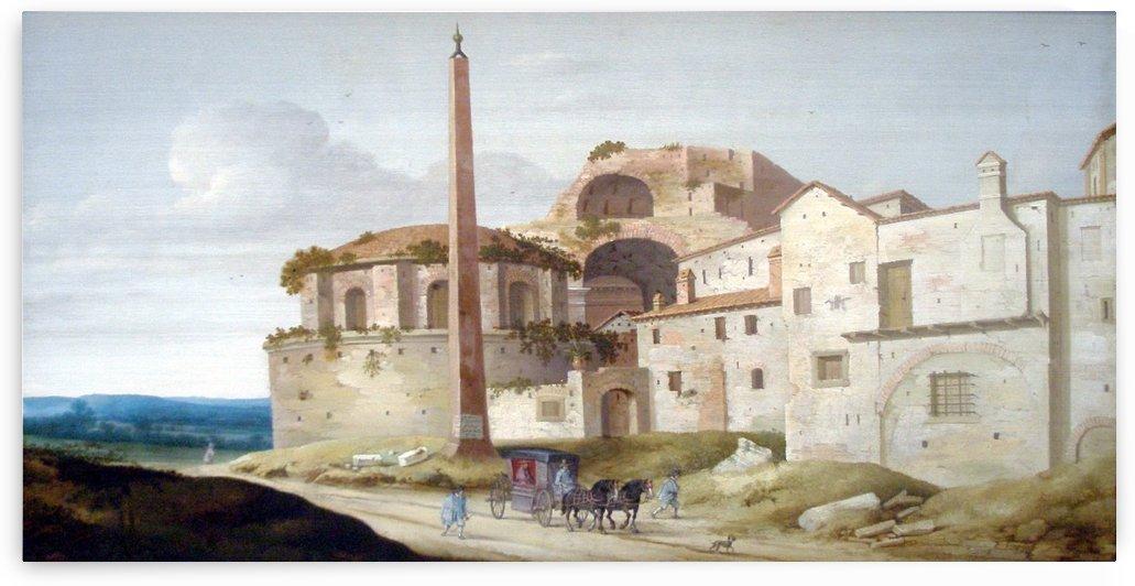Church of Santa Maria della Febbre in Rome by Pieter Jansz Saenredam