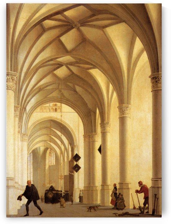Haarlem, Utrecht and The church by Pieter Jansz Saenredam