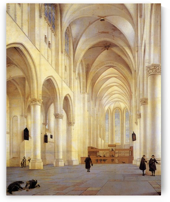 The Nave and Choir of the Saint Catharijnekerk by Pieter Jansz Saenredam