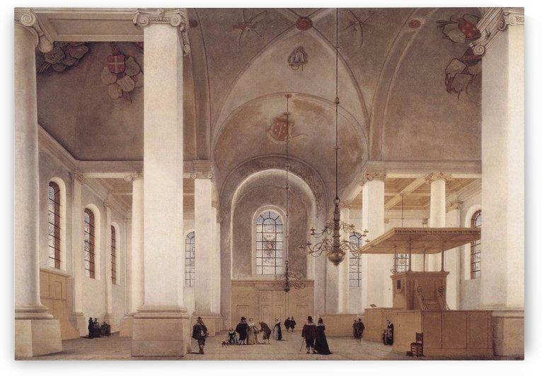 Interior of the Church of St Anne in Haarlem by Pieter Jansz Saenredam