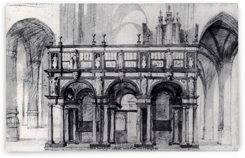 Choir of the Saint Jan Church at 's-Hertogenbosch by Pieter Jansz Saenredam