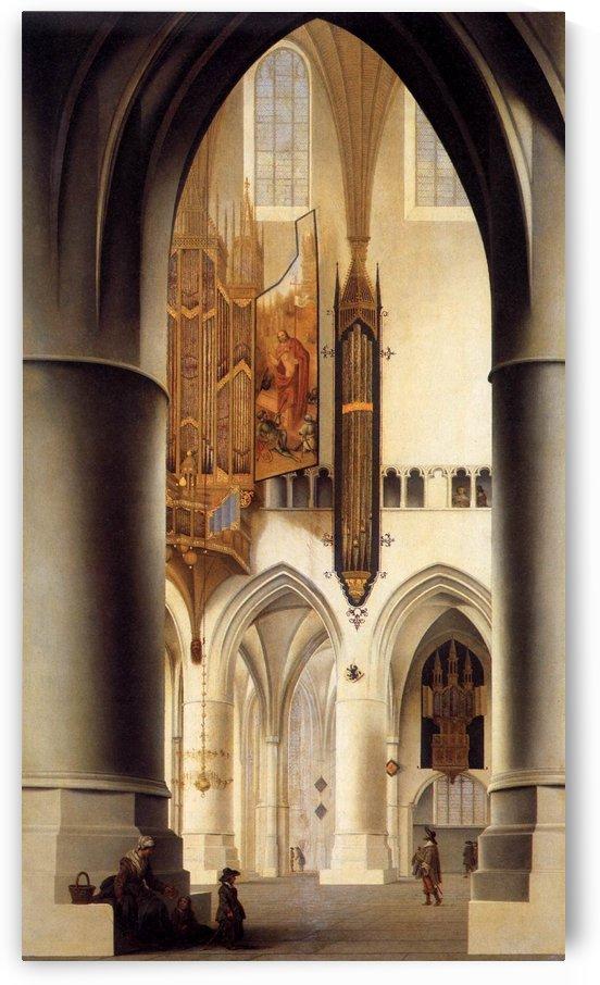 Interior of the Church of St. Bavo in Haarlem by Pieter Jansz Saenredam