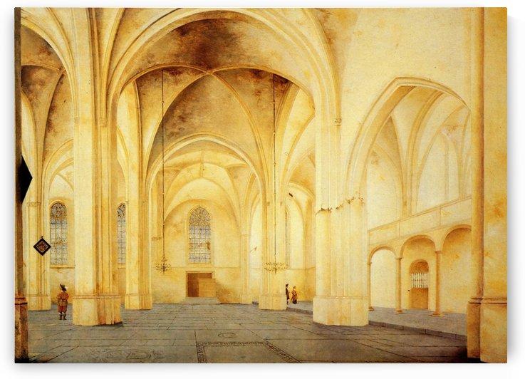 Saint Cunerakerk from South to North, Rhenen by Pieter Jansz Saenredam