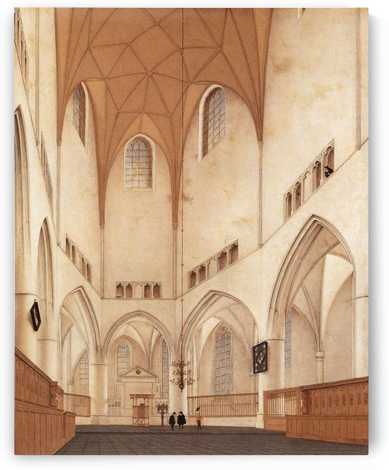 Interior of the Church of St Bavo at Haarlem by Pieter Jansz Saenredam