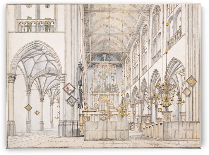 Interior of the Church of St. Lawrence by Pieter Jansz Saenredam
