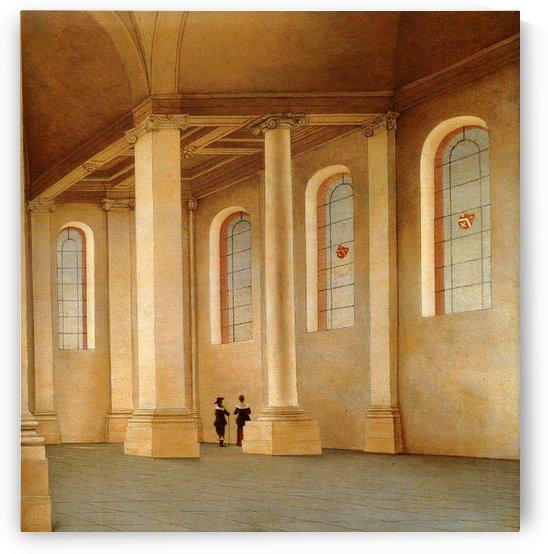 Interior Of The Nieuwe Kerk in Haarlem by Pieter Jansz Saenredam