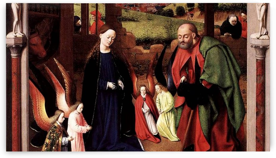 A religious scene by Petrus Christus