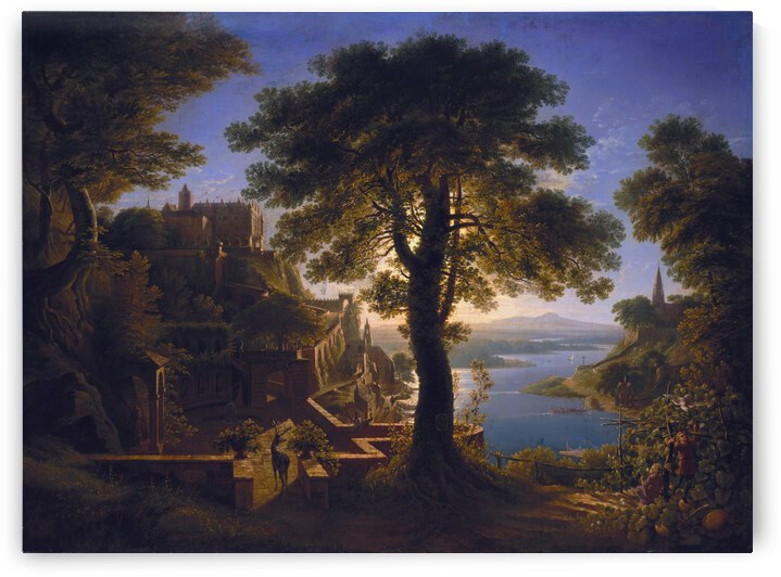 Castle by the River by Karl Friedrich Schinkel