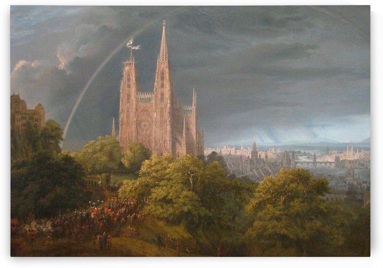 Mittelalterliche Stadt by Karl Friedrich Schinkel