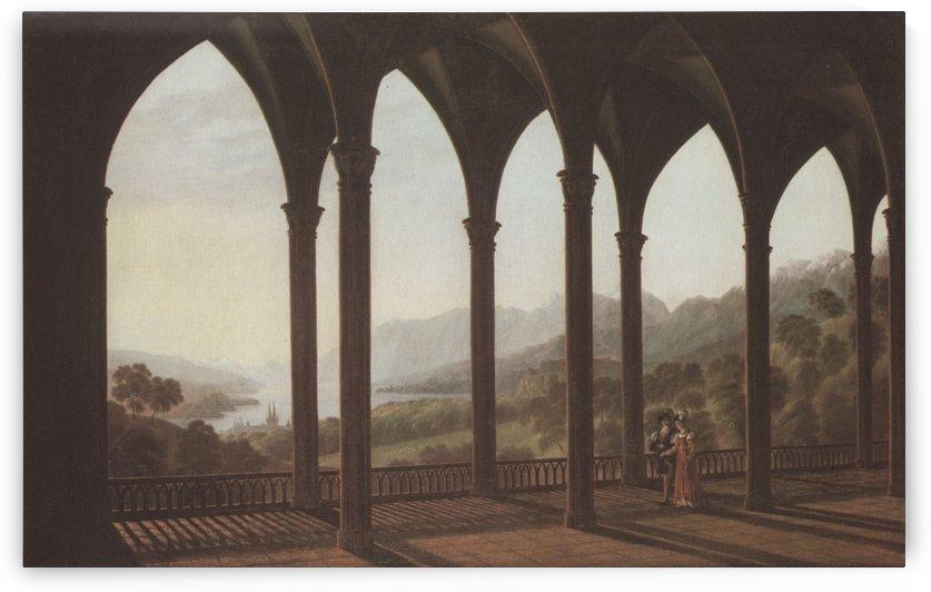 Landschaft mit gotischen Arkaden by Karl Friedrich Schinkel