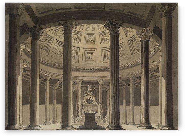 Buhnenbildentwurf Tempel der Vesta by Karl Friedrich Schinkel