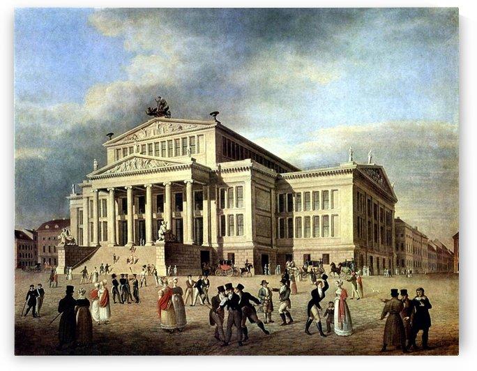Das Schauspielhaus um 1825 by Karl Friedrich Schinkel