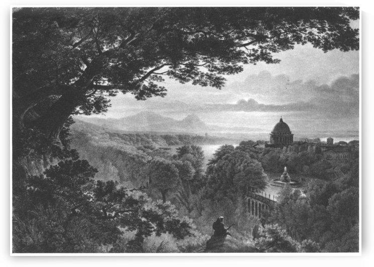 Landschaft mit Pilger by Karl Friedrich Schinkel