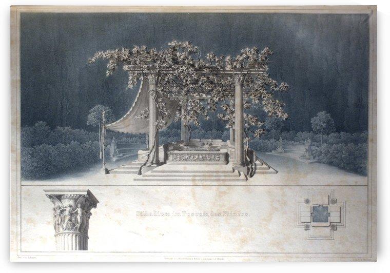 Stibadium des Plinius by Karl Friedrich Schinkel