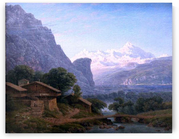 View of mont blanc by Karl Friedrich Schinkel