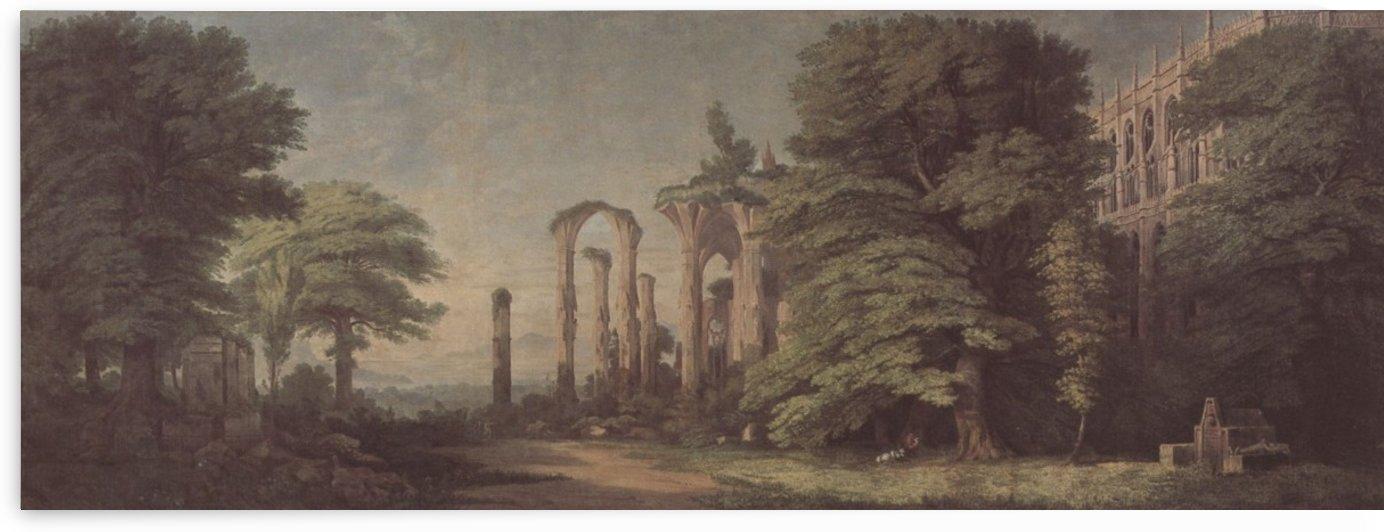 Gotische Klosterruine Und Baumgruppen Zeno by Karl Friedrich Schinkel