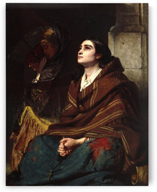 A woman praying by John Phillip