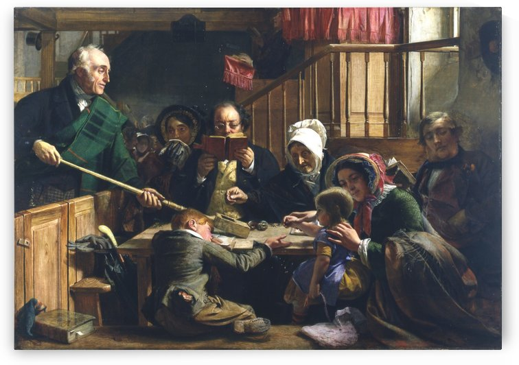 Collecting the Offering in a Scottish Kirk by John Phillip