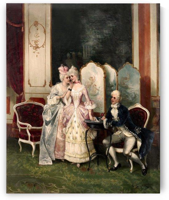 Two women and one gentleman by Stephan Sedlacek