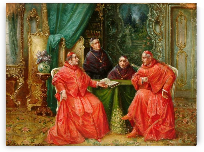 A group of priests and cardinals by Stephan Sedlacek