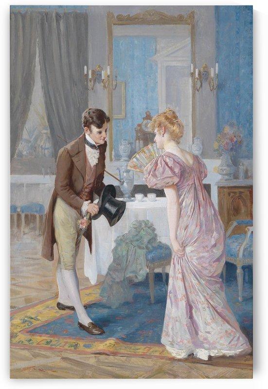 A couple flirting by Stephan Sedlacek