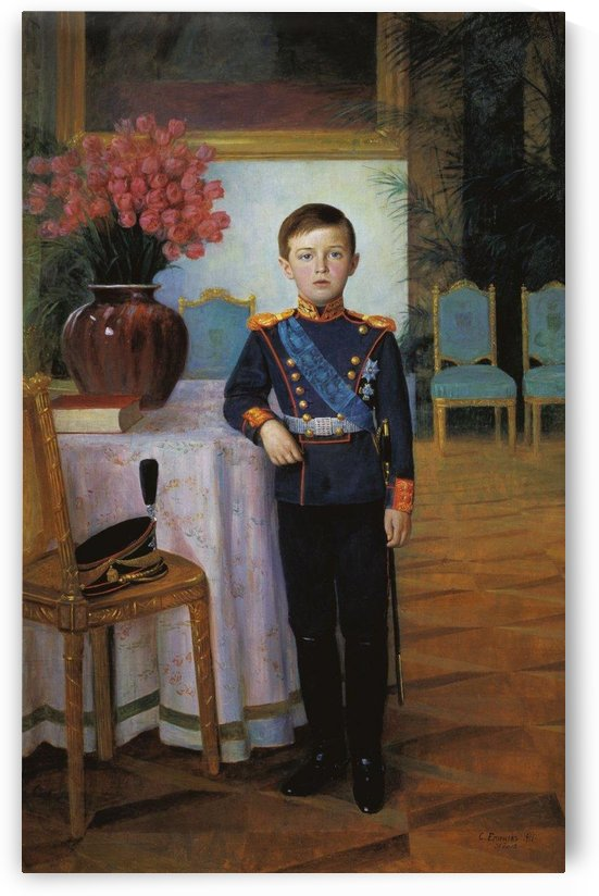 A young military boy by Sergei Semenovich Egornov