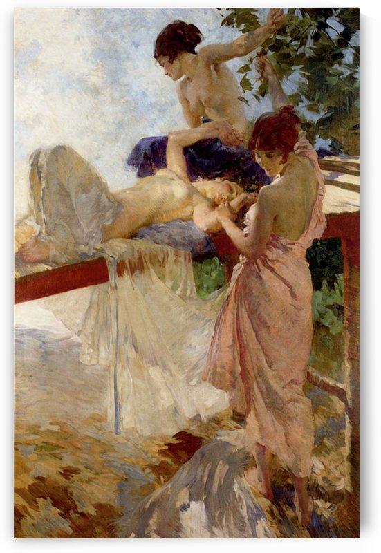 Resting young women by Sergei Semenovich Egornov