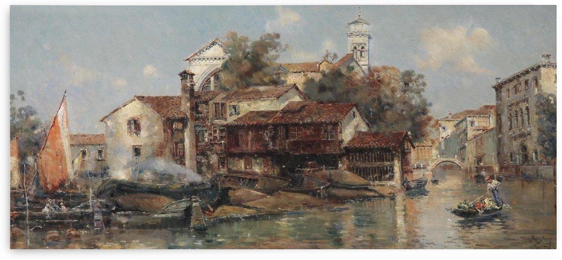 Manescau Gondelwerft San Trovasi by Antonio Maria de Reyna Manescau