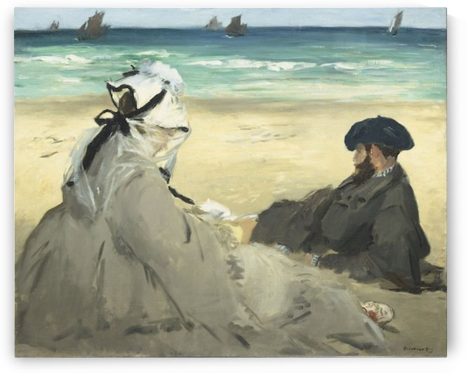 Manet - On the beach by