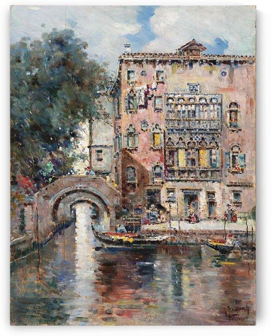 Gondeln in Venedig by Antonio Maria de Reyna Manescau