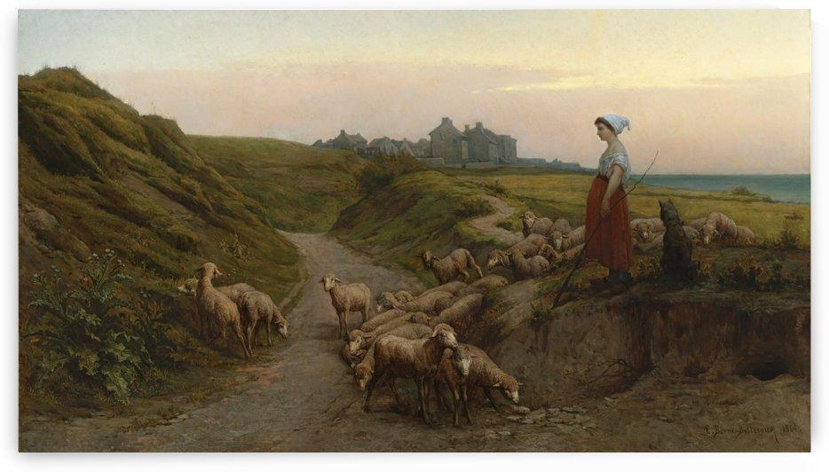 Chemin creux sur les cotes de Normandie by Etienne-Prosper Berne-Bellecour