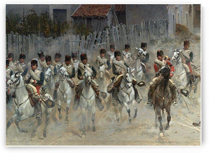 Hussard army by Etienne-Prosper Berne-Bellecour