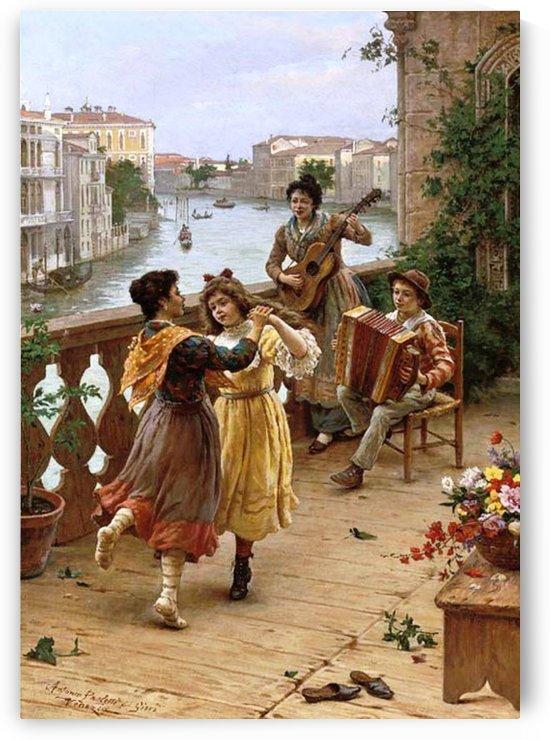 Venetian genre scenes by Antonio Ermolao Paoletti