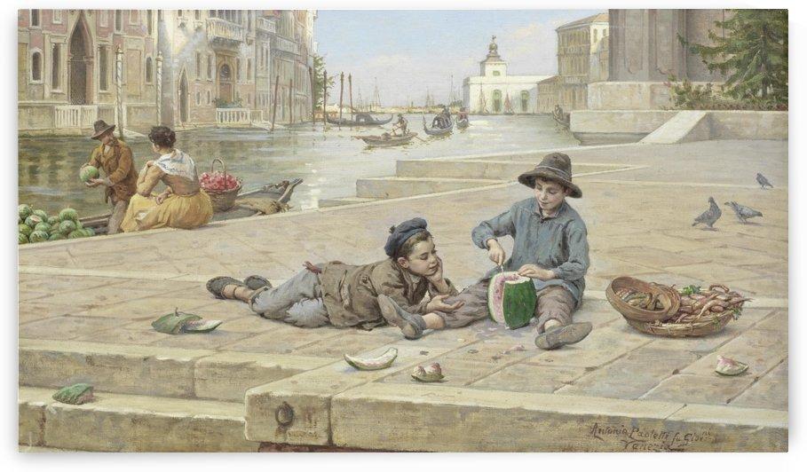The melon sellers by Antonio Ermolao Paoletti
